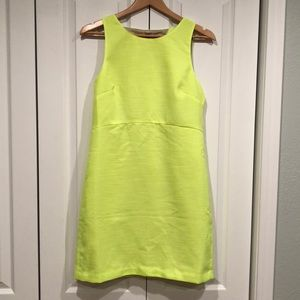 Neon yellow JCrew dress